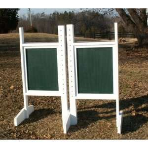 Colored Wing Standards Wood Horse Jumps:  Sports & Outdoors
