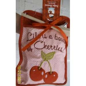 Holiday Cooking Oven Mitten (Cherry) w/ Fudge Brownie Mix