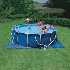 Intex Round Metal Frame Swimming Pool   16 Feet x 48 Inches   1000gph