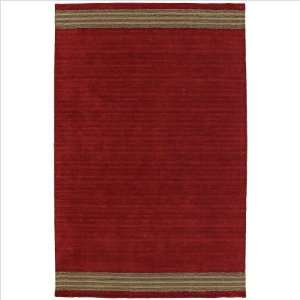 Kaleen 5000   25 Key West Red Casual Striped Rug