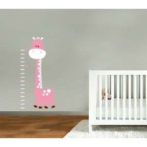 Kids Vinyl Wall Decal Betty the Giraffe Growth Chart Great for Nursery