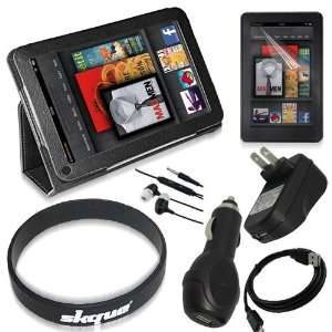 items Accessories Bundles for  Kindle Fire Tablet, Leather Cover