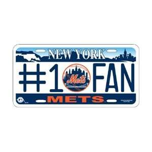 New York Mets #1 Fan Metal License Plate *SALE* Sports & Outdoors