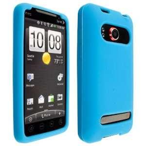 Premium Quality Light Blue Soft Silicone Skin Case Cover for HTC EVO