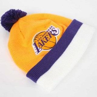 New Era NBA Beanie   Los Angeles Lakers Logo Skull Cap   Black