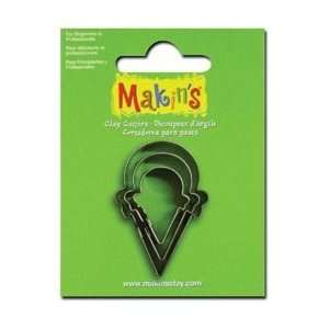Makins Clay Cutters 3/Pkg Ice Cream Cone; 6 Items/Order