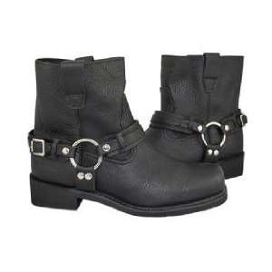 Mens Advanced Black Hell Rider Harness Motorcycle Boots