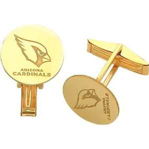 14K Gold NFL Arizona Cardinals Logo Cuff Links:  Sports