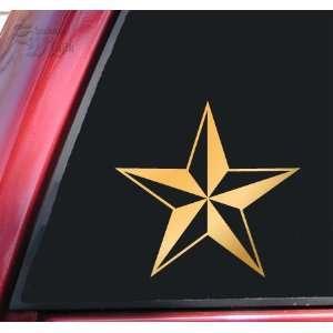 Nautical Star Vinyl Decal Sticker   Mirror Gold