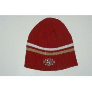 NFL San Francisco 49ers Striped Knit Beanie Hat Ski Skull