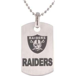 Titanium NFL Football Oakland Raiders Logo Dog Tag