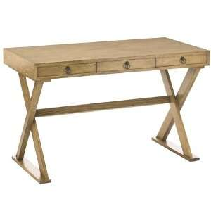 Cain Natural Limed Oak Veneer Desk Home & Kitchen