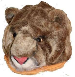 Furry Plush Animal Hat   One Size Fits All, Unisex, Ski Cap Clothing