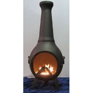 Prairie Style Chiminea Outdoor Fireplace: Home & Kitchen