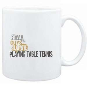 Real guys love playing Table Tennis  Sports