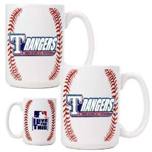 Texas Rangers 2pc Gameball Coffee Mug Set