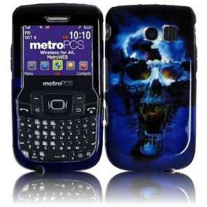 For Straight Talk Samsung R375C Accessory   Blue Skull