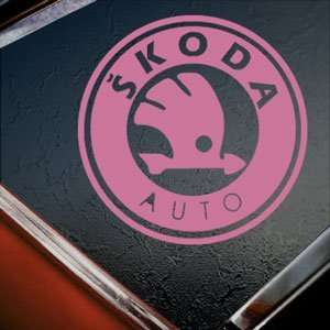Skoda Pink Decal Auto Truck Bumper Window Vinyl Pink