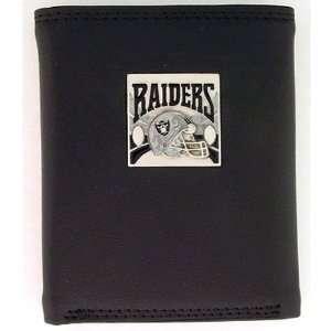Embossed NFL Tri fold w/ Nylon   Oakland Raiders Sports