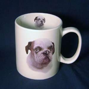 Large Cute Bulldog Puppy Dog Jumbo 14 Ounce Coffee Mug