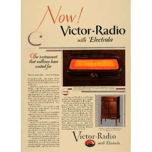 Machine Radio Electrola Stations   Original Print Ad: Home & Kitchen