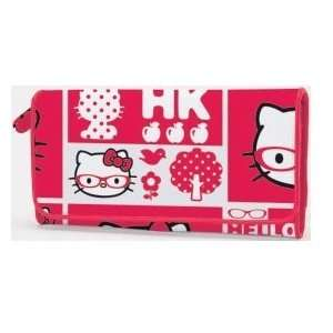 Hello Kitty Long Wallet Red Glasses