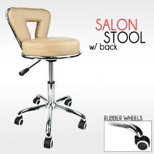 Professional Working Stool Doctor Dentist Salon Spa Barber Beige Chair