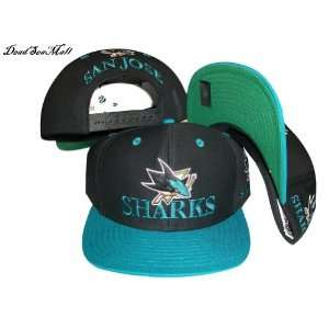 San Jose Sharks Black/Aqua Blue Two Tone Adjustable