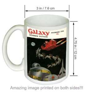 SPACE SANTA Galaxy Science Fiction Vintage Art COFFEE MUG