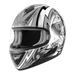Shark S650 FRAME WT_BK_WT LG MOTORCYCLE Full Face Helmet