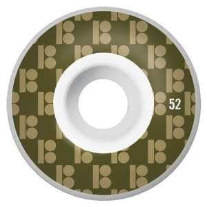 Plan B Monogram Series 52MM Skateboard Wheels (Set of 4):