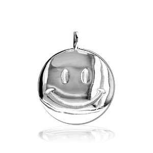 Smiley) Face Jewelry Charm in 10K white gold Sziro Jewelry Designs