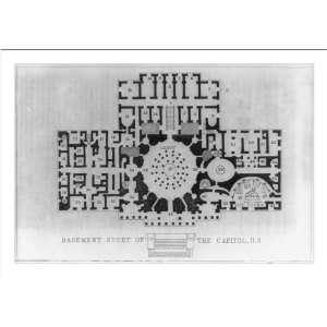 Historic Print (M) [Supreme Court floor plan of basement
