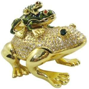 frogs   Bejeweled Swarovski Crystal diamond Jewelry Trinket Box