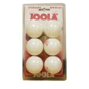 Two Star White 40mm Table Tennis Balls, 6 Count