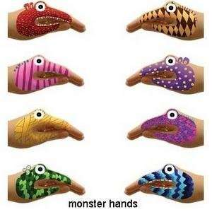 monster hands temporary tattoos by hector serrano: Health