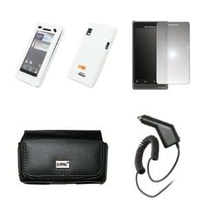 EMPIRE Black Leather Case Pouch with Belt Clip and Belt