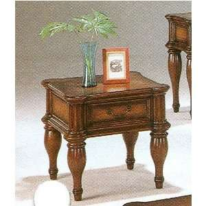 Traditional Solid Wood Occasional Side End Table w/Drawer