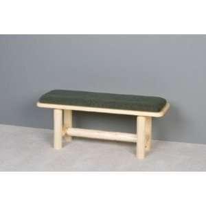 Viking Log Furniture Log Cushion Seat 48 Inch Bench Patio