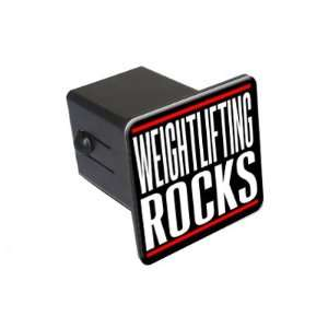 Weightlifting Rocks   2 Tow Trailer Hitch Cover Plug
