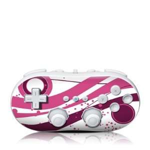 Fantasy Pink Design Skin Decal Sticker for the Wii Classic