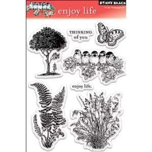 Penny Black Clear Stamp Set, Enjoy Life Arts, Crafts