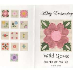 Wild Roses Applique Embroidery Designs by Ashley Embroidery on a Multi