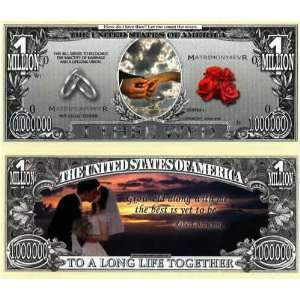 Set of 10 Bills Wedding Million Dollar Bill: Toys & Games