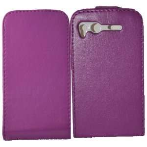 Palace   Purple leather flip case pouch for htc desire S Electronics