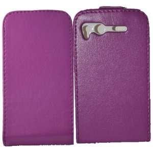 Palace   Purple leather flip case pouch for htc desire S Electronics