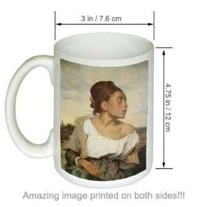 Art COFFEE MUG Orphan Girl at the Cementary: Kitchen & Dining
