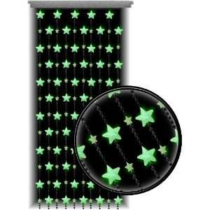 Curtains   Glow in the Dark Stars Door Beads #60879