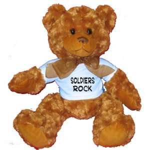 Soldiers Rock Plush Teddy Bear with BLUE T Shirt Toys
