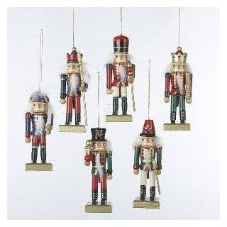 Red & White Hand Painted Wooden 5.5 Inch Soldier Nutcracker Christmas